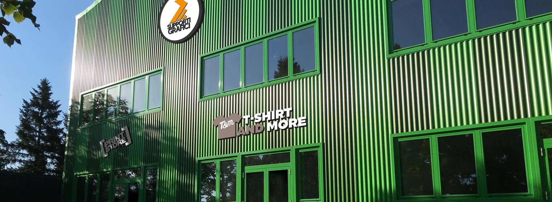 edificio ad alta efficienza energetica sede di T-shirt and More