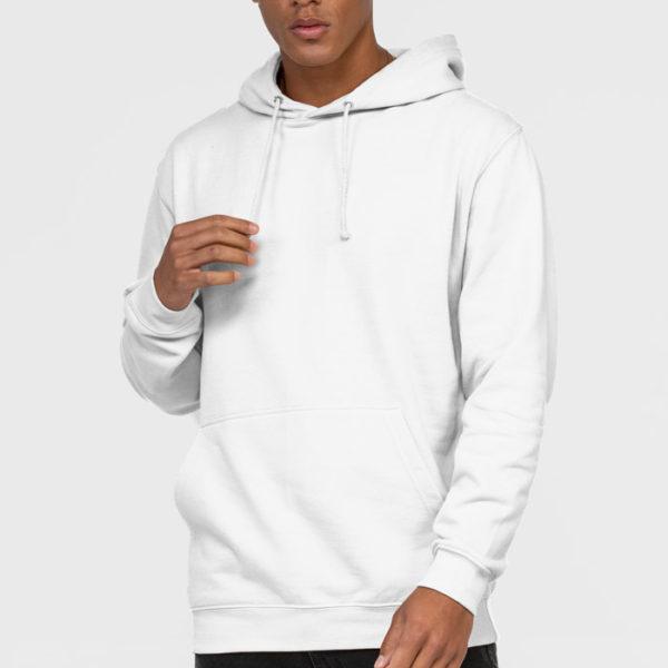 Felpa con cappuccio Awdis Just Hood JH001 bianca o molto chiara per felpe personalizzate online