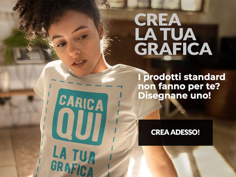 ragazza con abbigliamento personalizzato T-shirt and More: una t-shirt personalizzata con la propria grafica